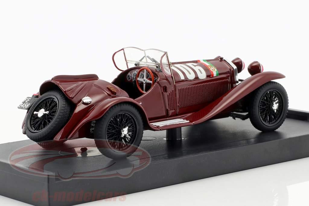 Alfa Romeo 8C 2300 #106 vincitore Mille Miglia 1932 Borzacchini, Bignami 1:43 Brumm