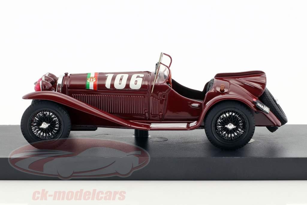 Alfa Romeo 8C 2300 #106 Vinder Mille Miglia 1932 Borzacchini, Bignami 1:43 Brumm