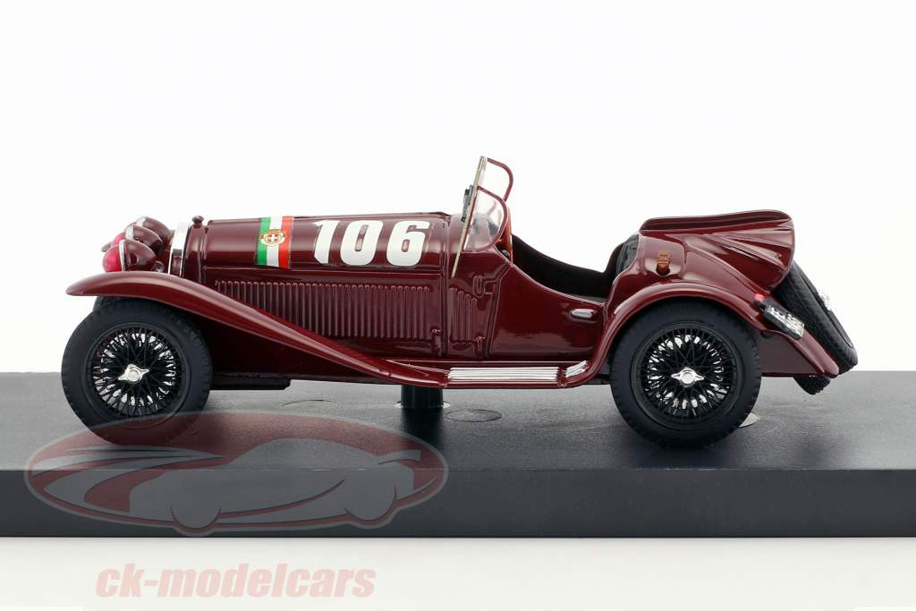 Alfa Romeo 8C 2300 #106 winnaar Mille Miglia 1932 Borzacchini, Bignami 1:43 Brumm