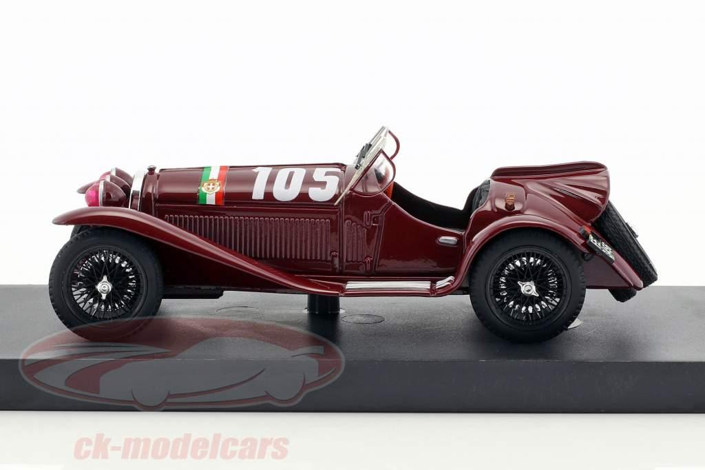 Alfa Romeo 8C 2300 #105 Mille Miglia 1932 Nuvolari, Guidotti 1:43 Brumm