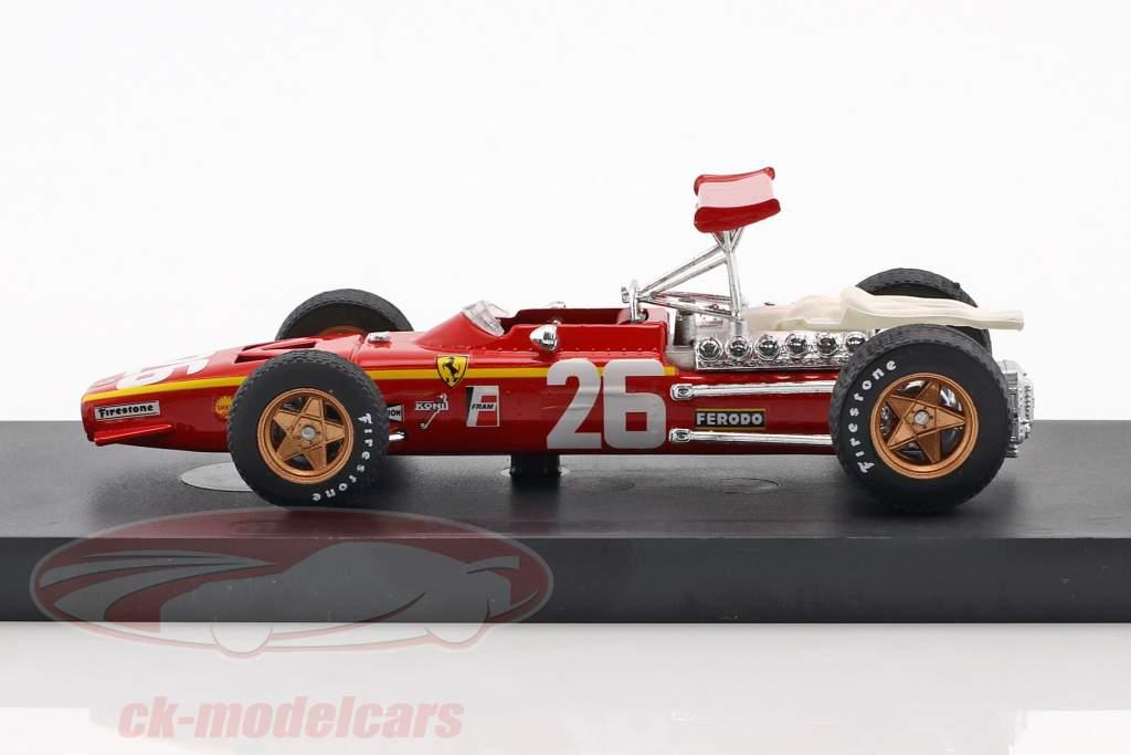 Jacky Ickx Ferrari 312 F1 #26 vencedor França GP fórmula 1 1968 1:43 Brumm