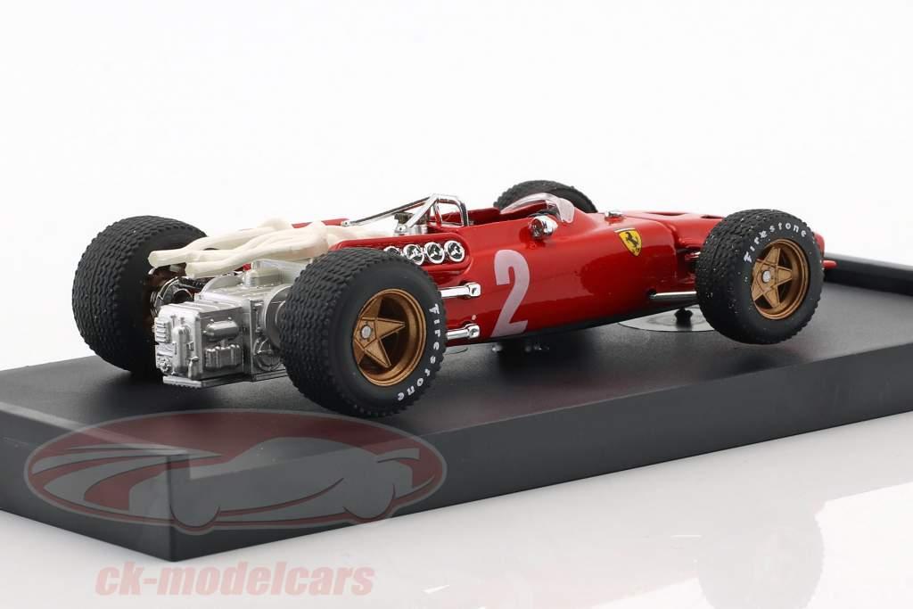 Chris Amon Ferrari 312 F1 #2 italien GP formule 1 1967 1:43 Brumm