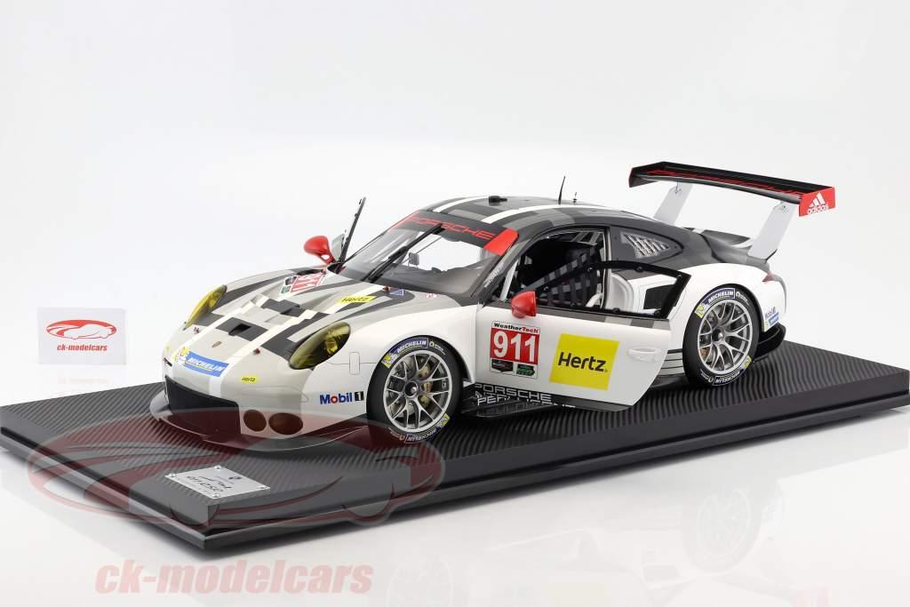 Porsche 911 (991) RSR #911 année de construction 2016 gris / blanc / noir 1:8 Amalgam