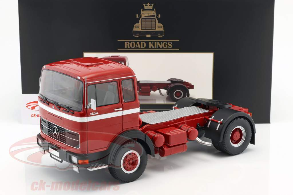 Mercedes-Benz LPS 1632 Tractor year 1969 red / white 1:18 Road Kings