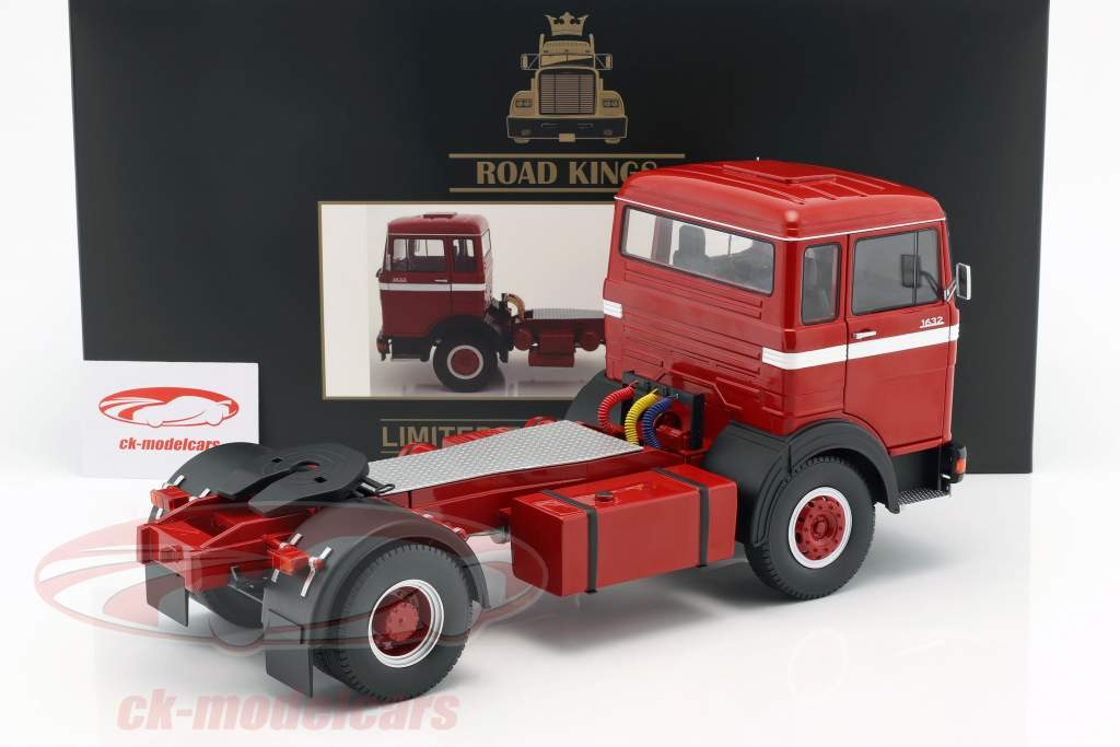 Mercedes-Benz LPS 1632 Sattelzugmaschine Baujahr 1969 rot / weiß 1:18 Road Kings