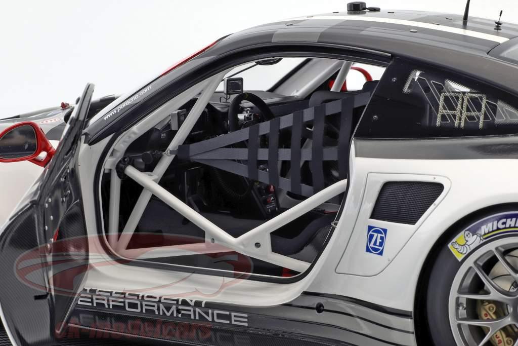 Porsche 911 (991) RSR #911 Opførselsår 2016 grå / hvid / sort 1:8 Amalgam