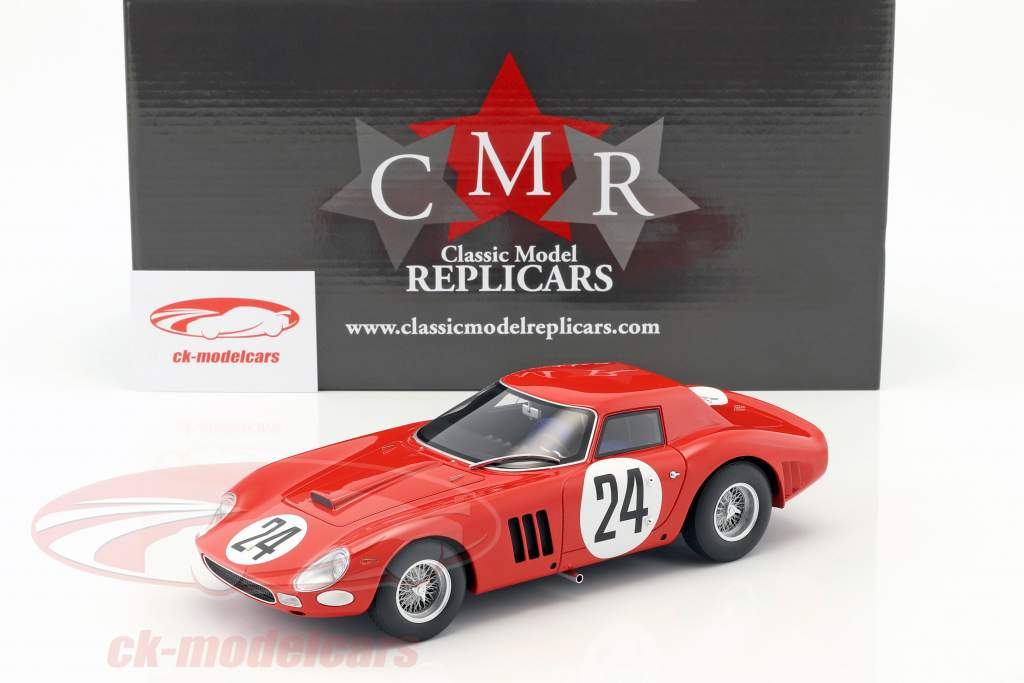 Ferrari 250 GTO #24 5 24h LeMans 1964 Bianchi, Blaton 1:18 CMR