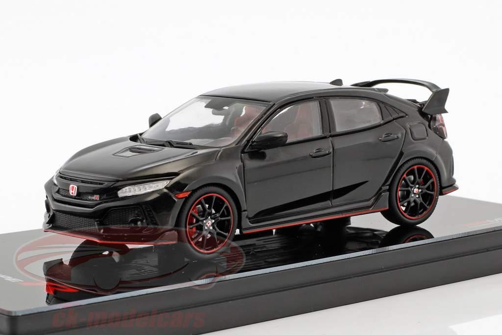 Honda Civic typen R LHD Opførselsår 2017 crystal black pearl 1:43 TrueScale