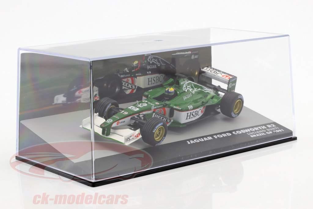 Luciano Burti Jaguar R2 #19 Brazil GP formula 1 2001 1:43 Altaya