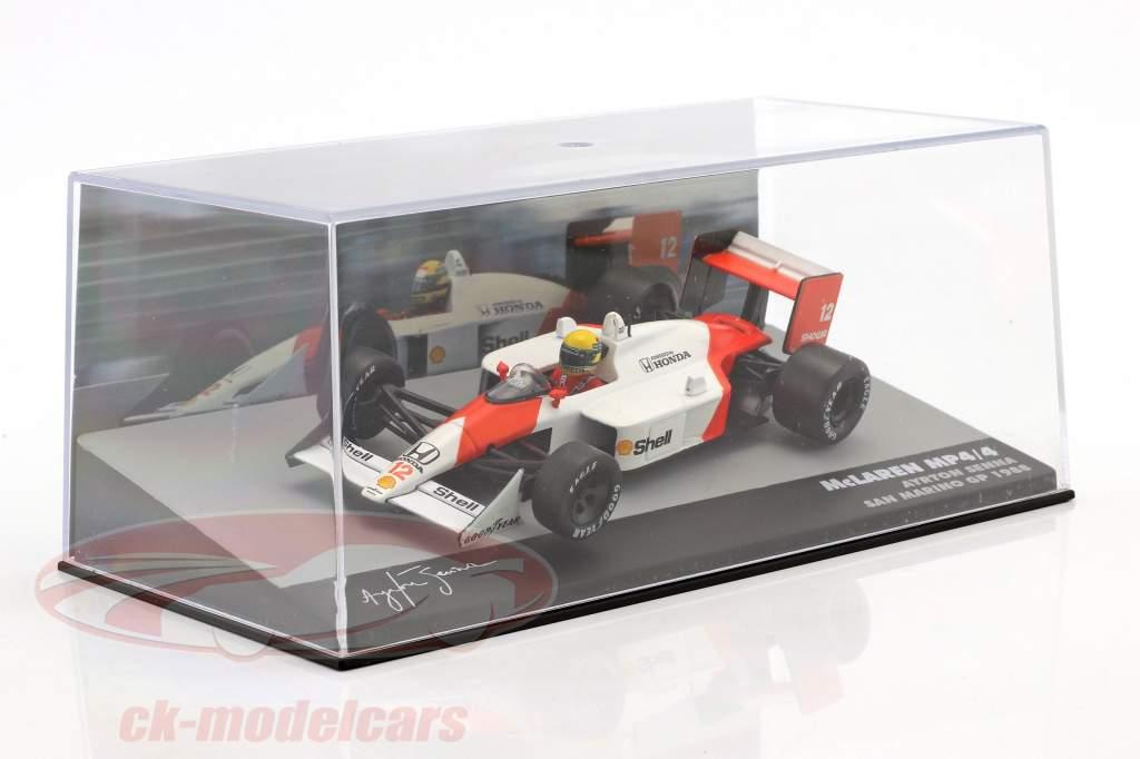 Ayrton Senna McLaren MP4/4 #12 winnaar San Marino GP formule 1 1988 1:43 Altaya