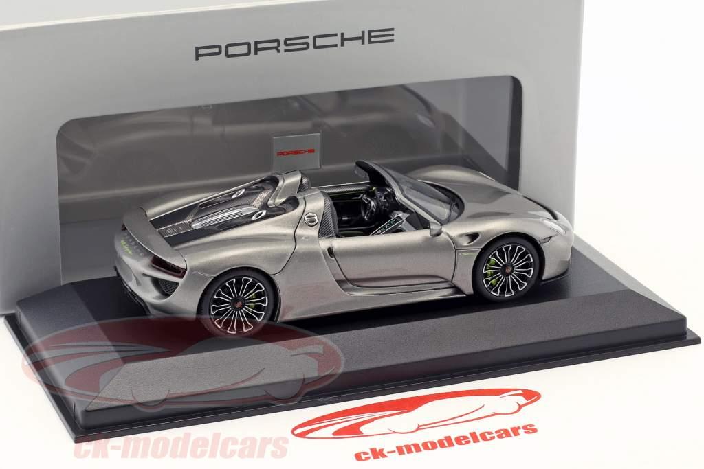 Porsche 918 Spyder anno di costruzione 2013 liquid metal argento 1:43 Minichamps