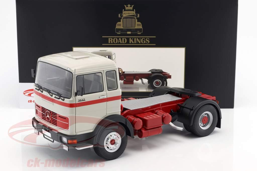 Mercedes-Benz LPS 1632 Sattelzugmaschine Baujahr 1969 grau / rot 1:18 Road Kings