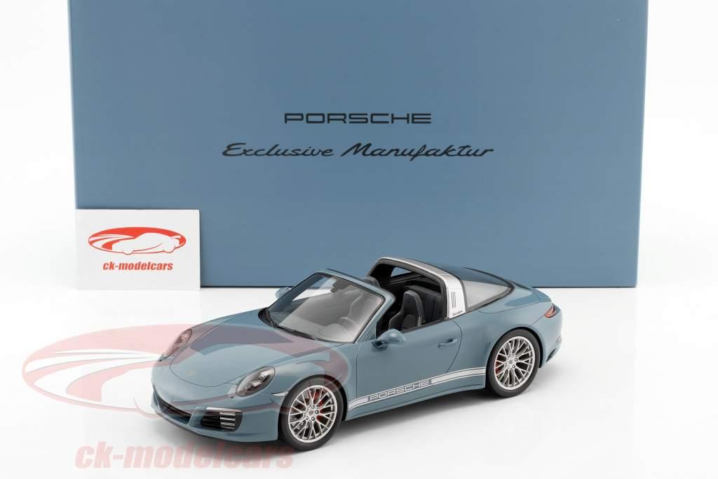 Porsche 911 (991 II) Targa 4S aetna blue with showcase 1:18 Spark