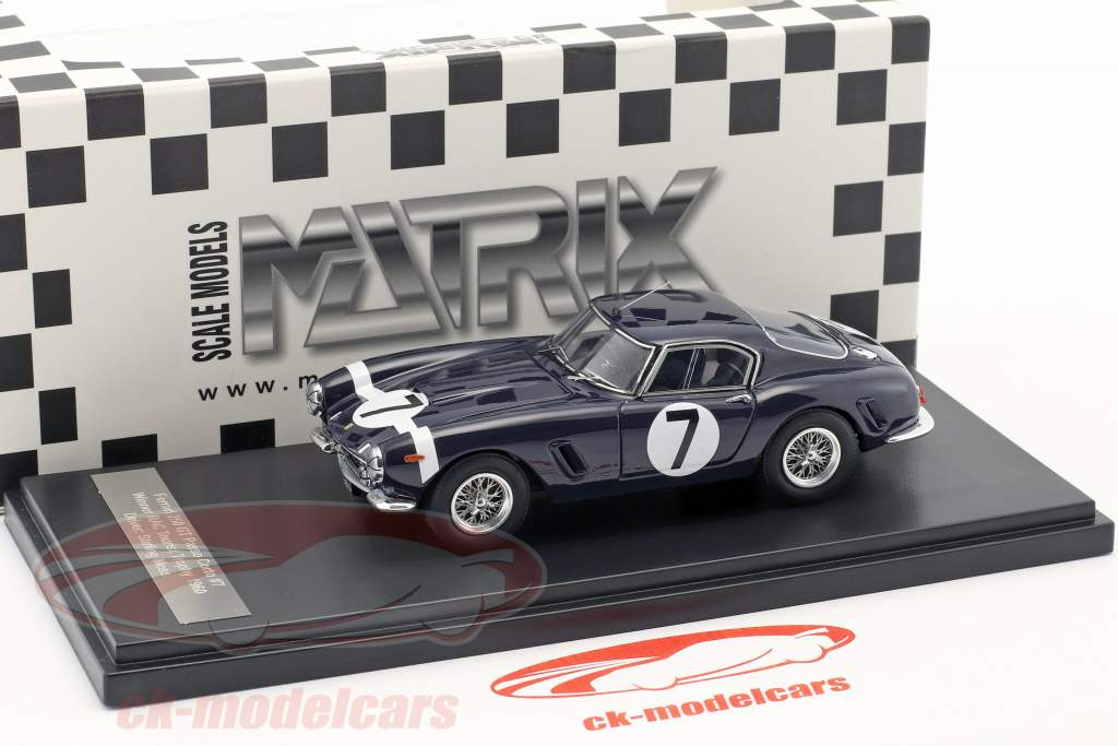 Ferrari 250 GT Passo Corto #7 Vencedor RAC Tourist Trophy 1960 Stirling Moss 1:43 Matrix
