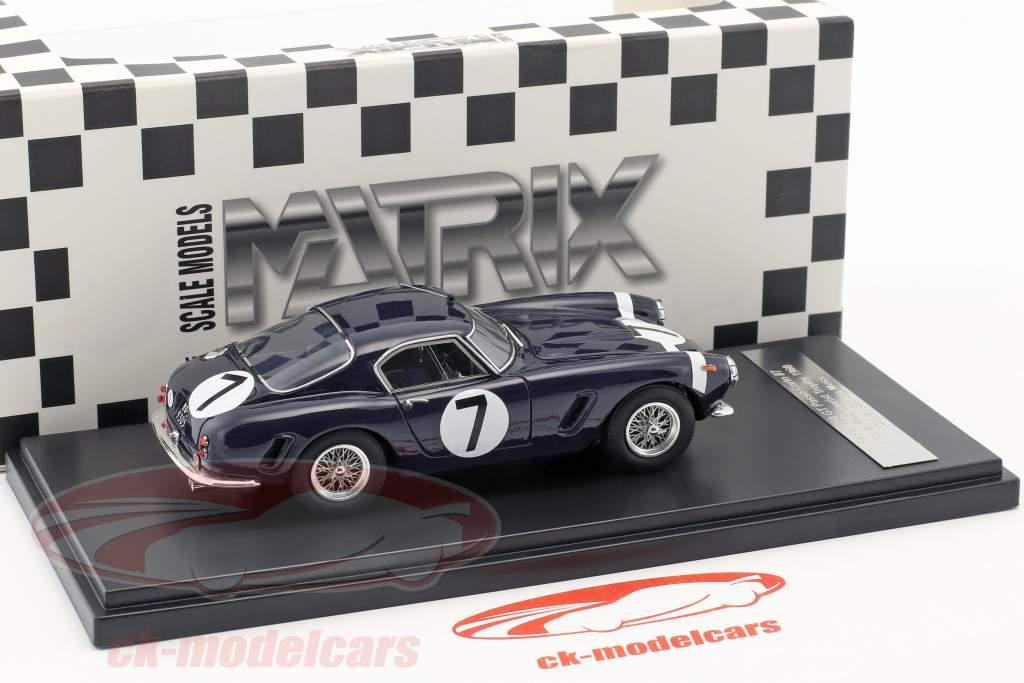 Ferrari 250 GT Passo Corto #7 Winner RAC Tourist Trophy 1960 Stirling Moss 1:43 Matrix
