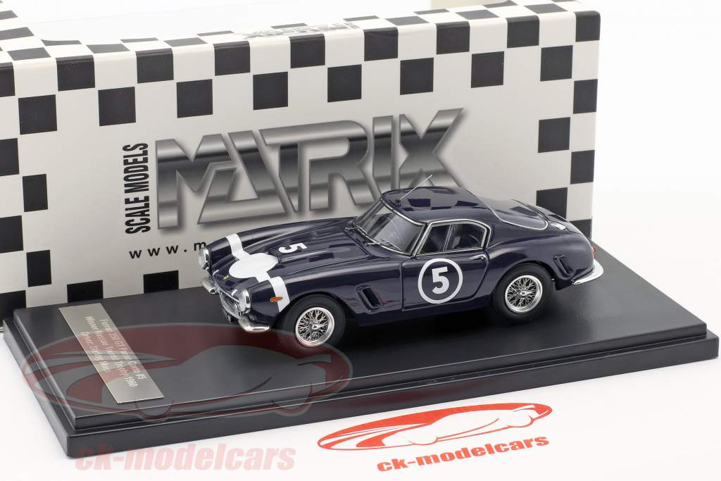 Ferrari 250 GT Passo Corto #5 vencedor Nassau Tourist Trophy 1960 Stirling Moss 1:43 Matrix
