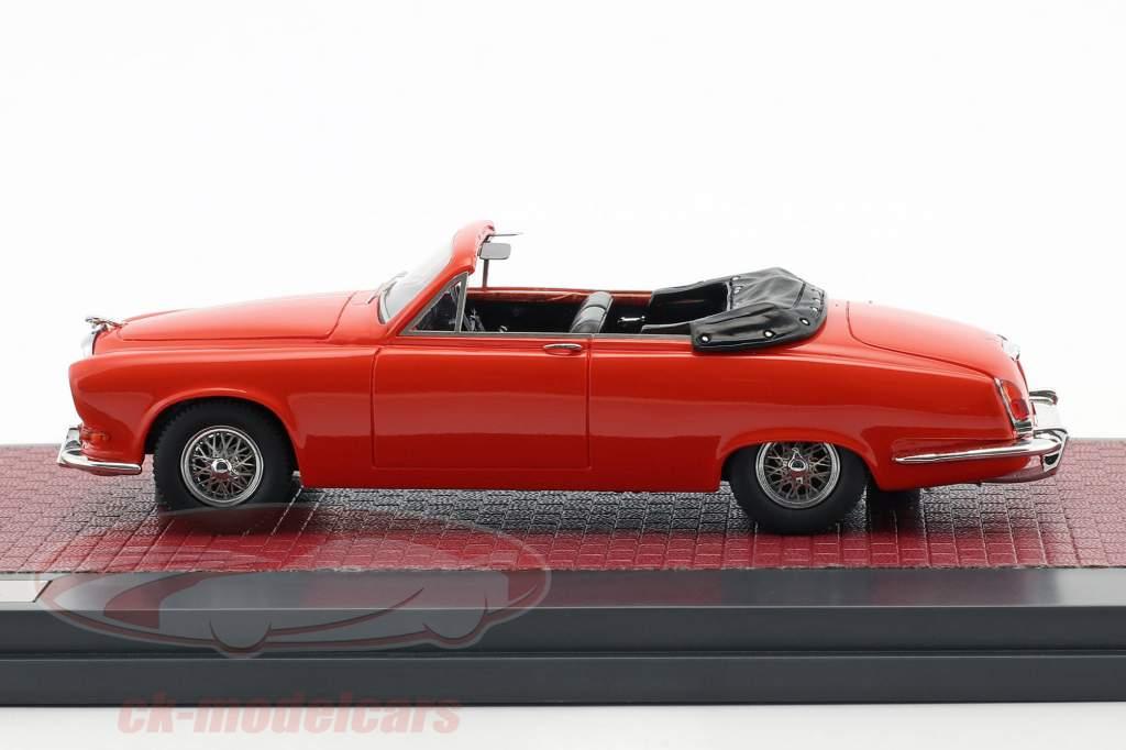 Jaguar 420 Harold Radford Cabriolet Opførselsår 1967 rød 1:43 Matrix