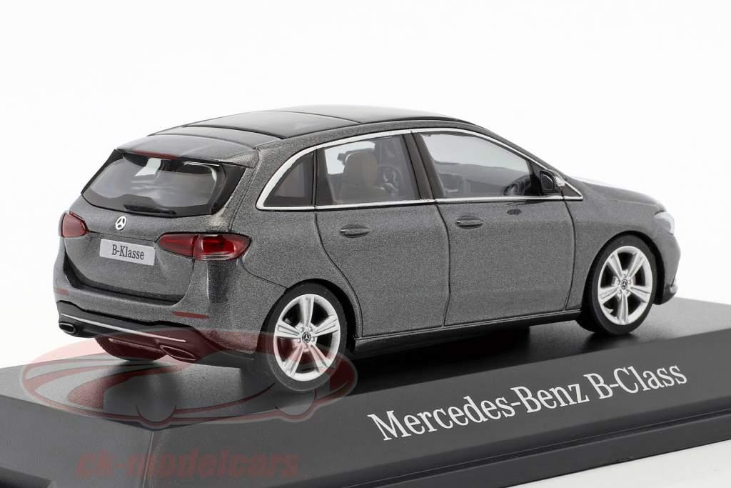Mercedes-Benz B-Class (W247) année de construction 2018 montagne gris 1:43 Herpa