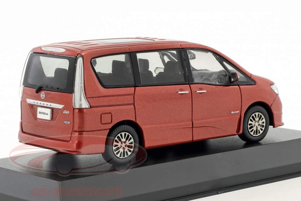 Nissan Serena minivan Highway Star G Opførselsår 2014 koral rød metallisk 1:43 Kyosho