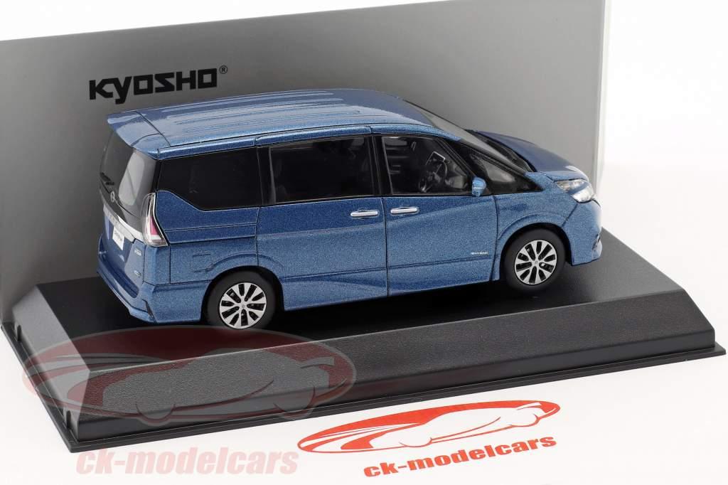 Nissan Serena C27 year 2016 blue metallic 1:43 Kyosho