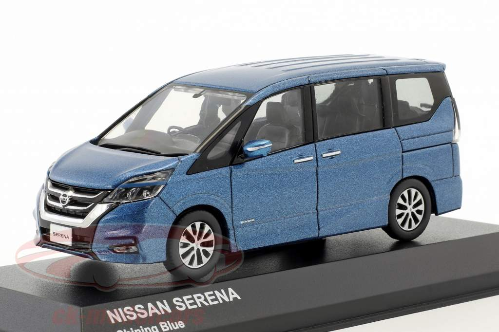 Nissan Serena C27 ano de construção 2016 azul metálico 1:43 Kyosho