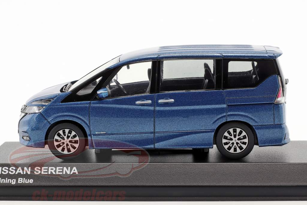 Nissan Serena C27 année de construction 2016 bleu métallique 1:43 Kyosho
