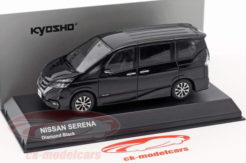 Nissan Serena C27 diamante preto 1:43 Kyosho