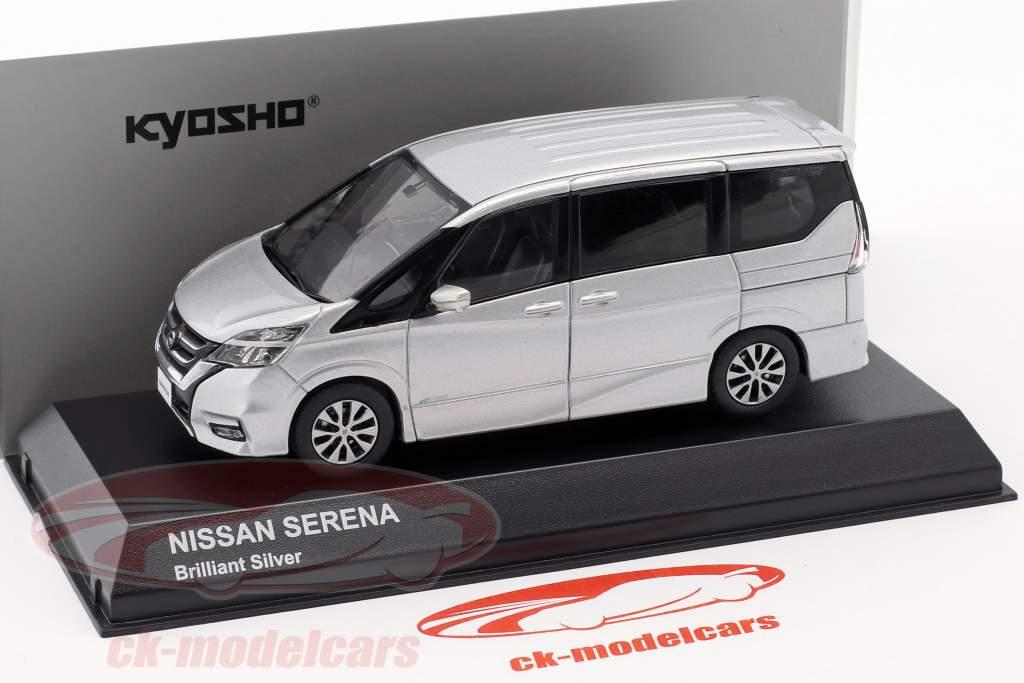 Nissan Serena C27 ano de construção 2016 brilhante prata 1:43 Kyosho