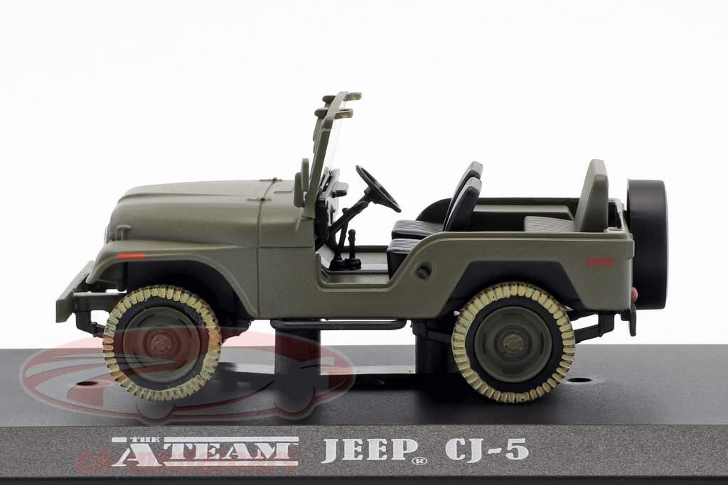 Jeep CJ-5 TV-serie den A-Team (1983-87) army grøn 1:43 Greenlight