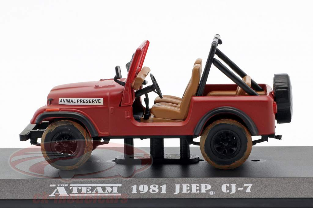 Jeep CJ-7 Série TV la A-Team (1983-87) rouge 1:43 Greenlight