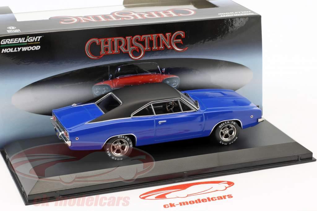 Dennis Guilder's Dodge Charger Opførselsår 1968 film Christine (1983) blå / sort 1:43 Greenlight