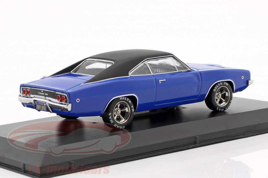 Dennis Guilder's Dodge Charger year 1968 Movie Christine (1983) blue / black 1:43 Greenlight