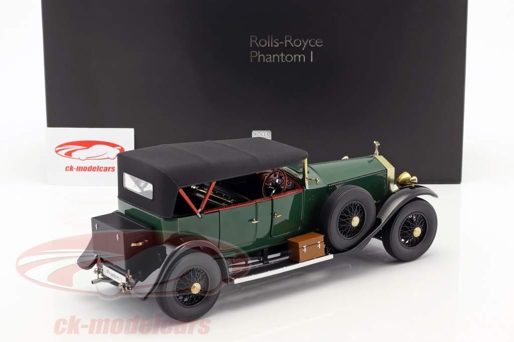 Rolls Royce Phantom I conversível ano de construção 1926 verde 1:18 Kyosho