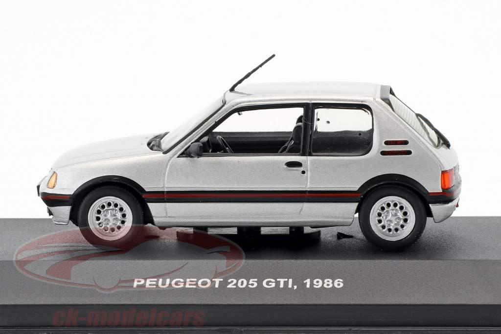 Peugeot 205 GTI 1,6 L year 1986 silver metallic 1:43 Solido