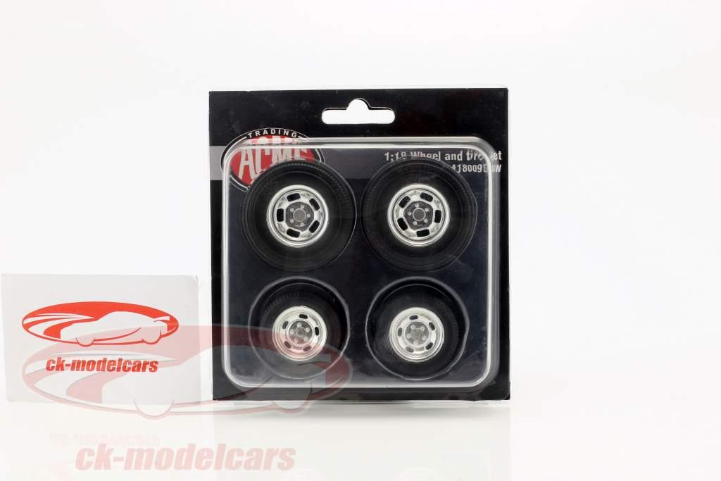 Gasser Dragster hjul og dæk Set 1:18 GMP