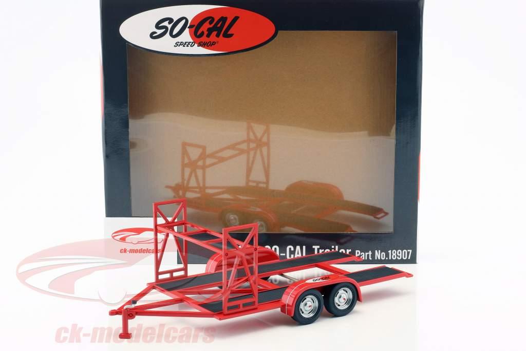 Autoanhänger So-Cal Speed Shop rot / weiß / schwarz 1:18 GMP