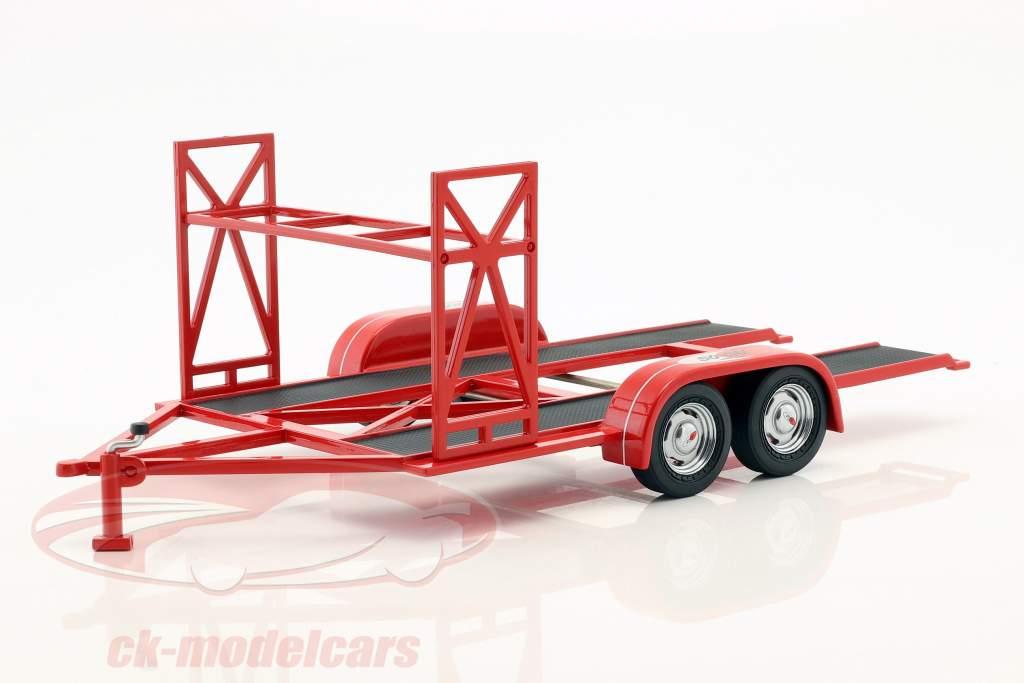 tandem carro trailer So-Cal Speed Shop vermelho / branco / preto 1:18 GMP