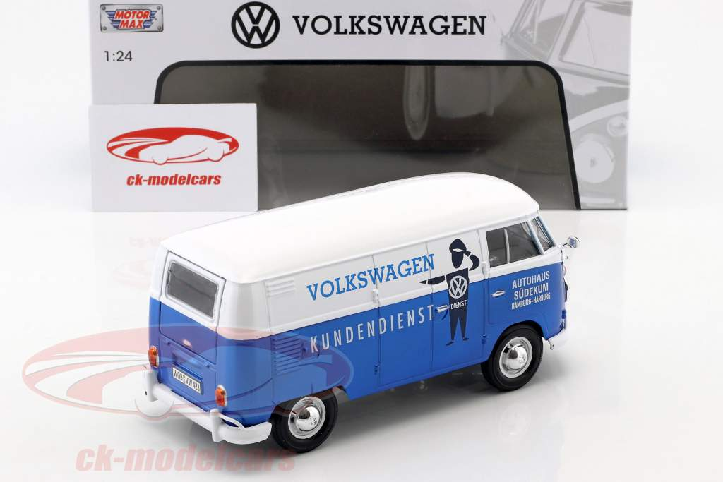 Volkswagen VW Type 2 T1 van VW Customer service blue / White 1:24 MotorMax