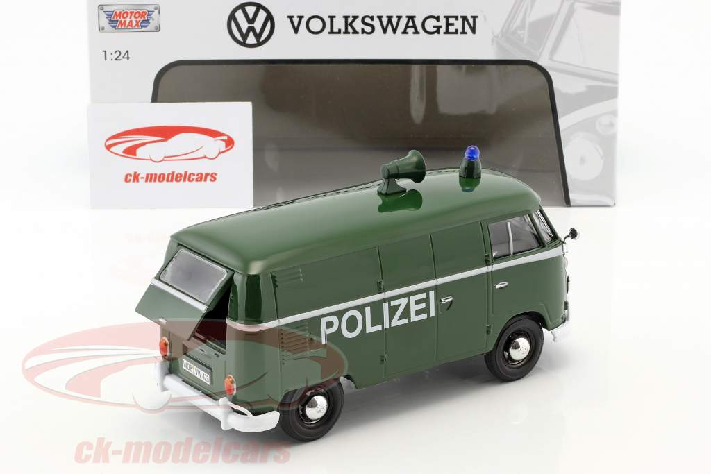 Volkswagen VW Type 2 T1 Transporter Polizei grün 1:24 MotorMax