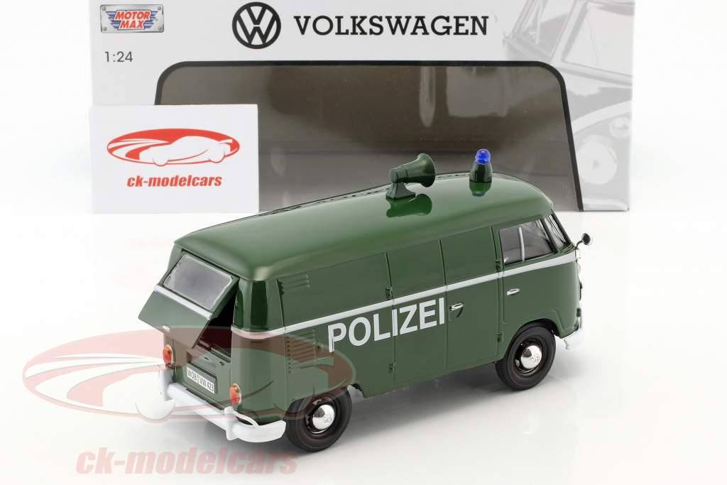 Volkswagen VW Type 2 T1 van police green 1:24 MotorMax