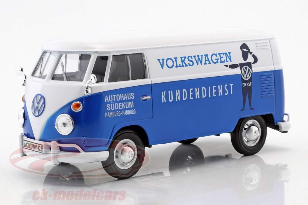 Volkswagen VW Type 2 T1 Transporter VW Kundendienst blau / weiß 1:24 MotorMax