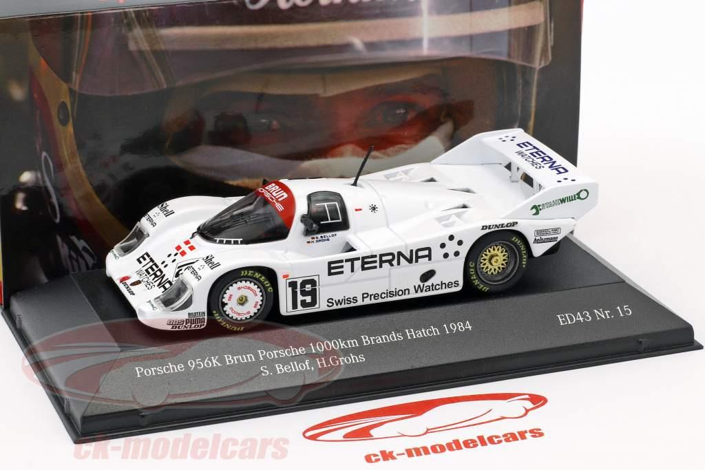 Porsche 956K Brun #19 5 ° 1000km Brands Hatch 1984 Bellof, Grohs 1:43 CMR