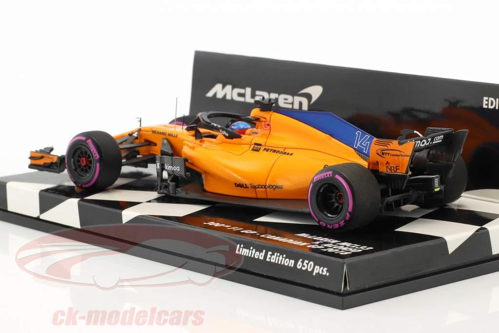F. Alonso McLaren MCL33 #14 300e F1 GP Canada formule 1 2018 1:43 Minichamps
