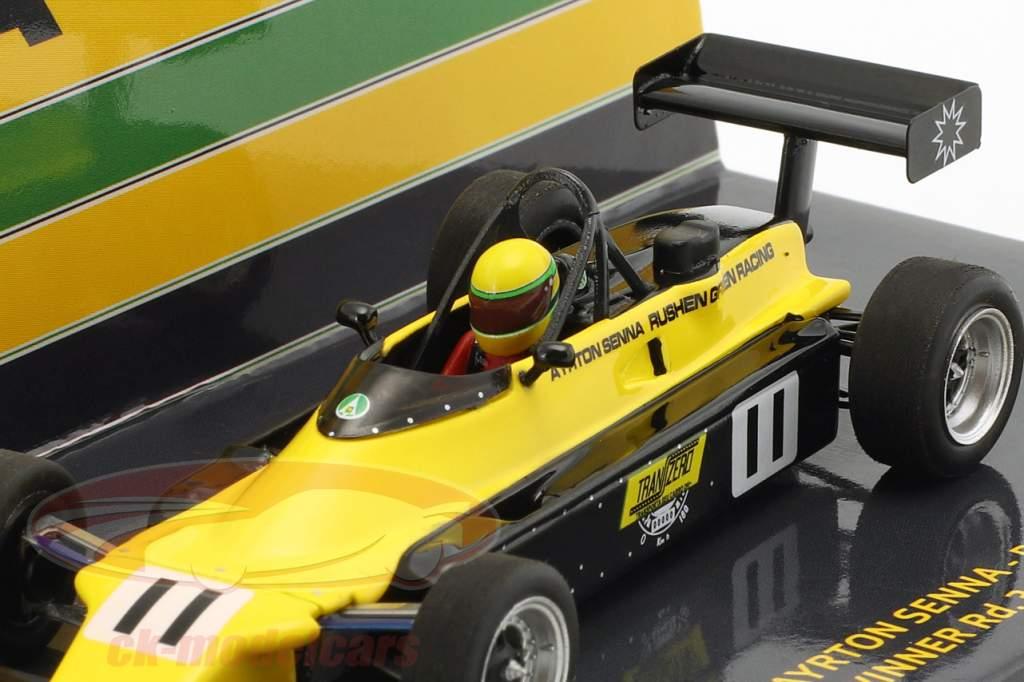 Ayrton Senna Van Diemen RF82 #11 britisk formel Ford 2000 mester 1982 1:43 Minichamps
