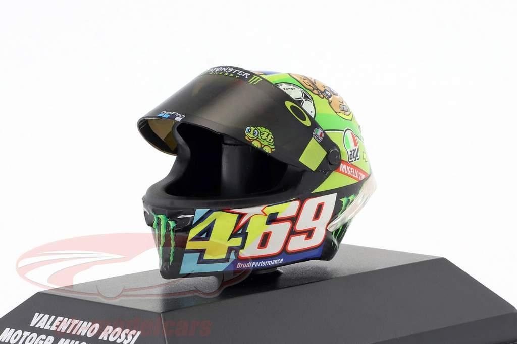 Valentino Rossi MotoGP Mugello 2017 AGV hjelm 1:8 Minichamps