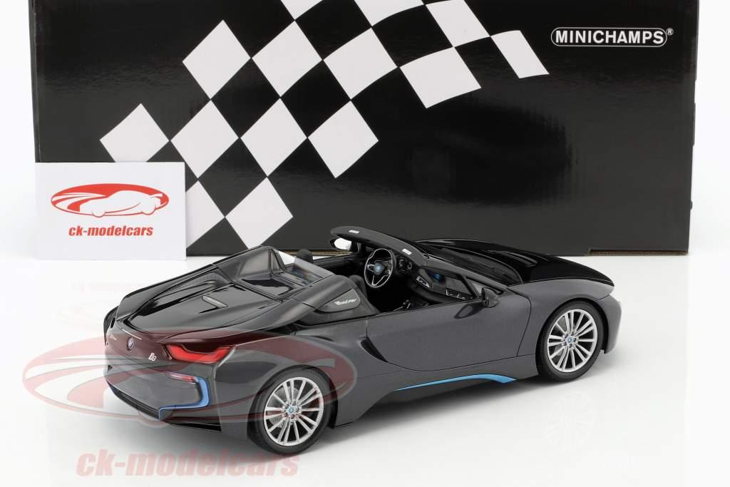 BMW I8 Roadster (I15) year 2018 grey metallic 1:18 Minichamps