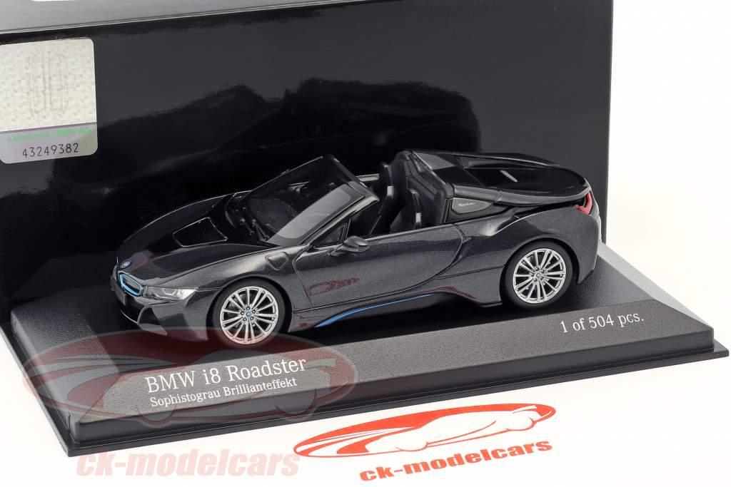 BMW I8 Roadster (I15) año de construcción 2018 gris metálico 1:43 Minichamps