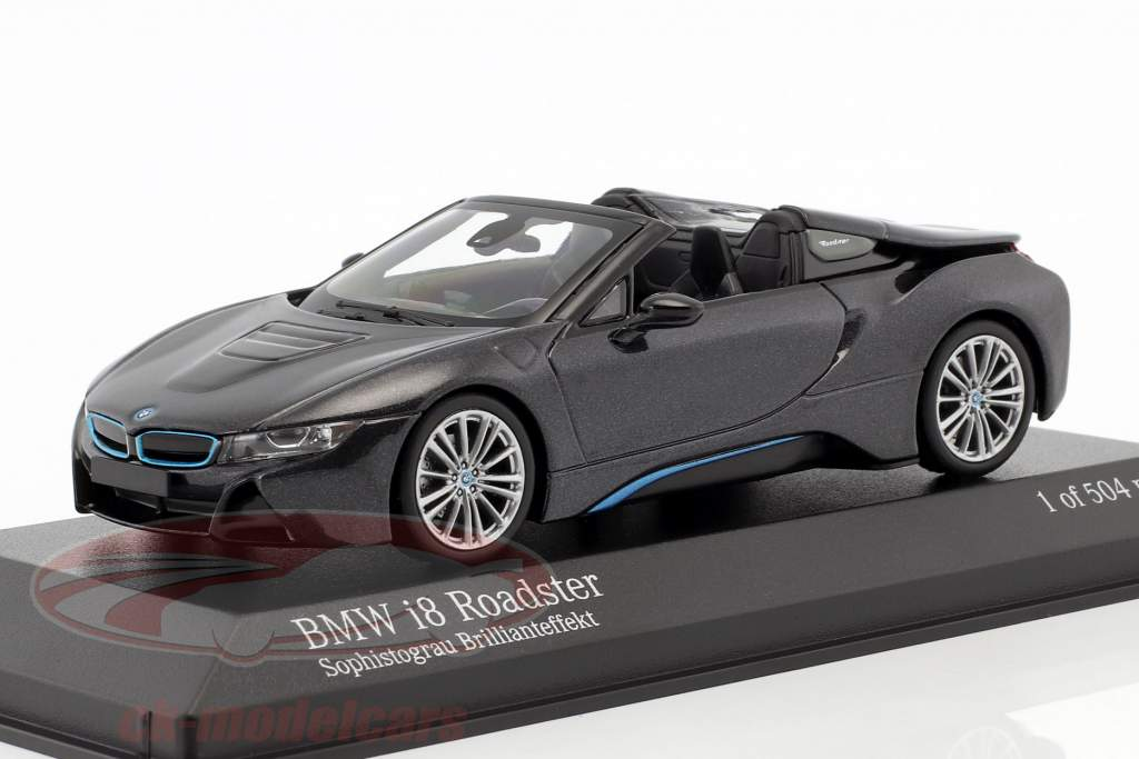 BMW I8 Roadster (I15) année de construction 2018 gris métallique 1:43 Minichamps