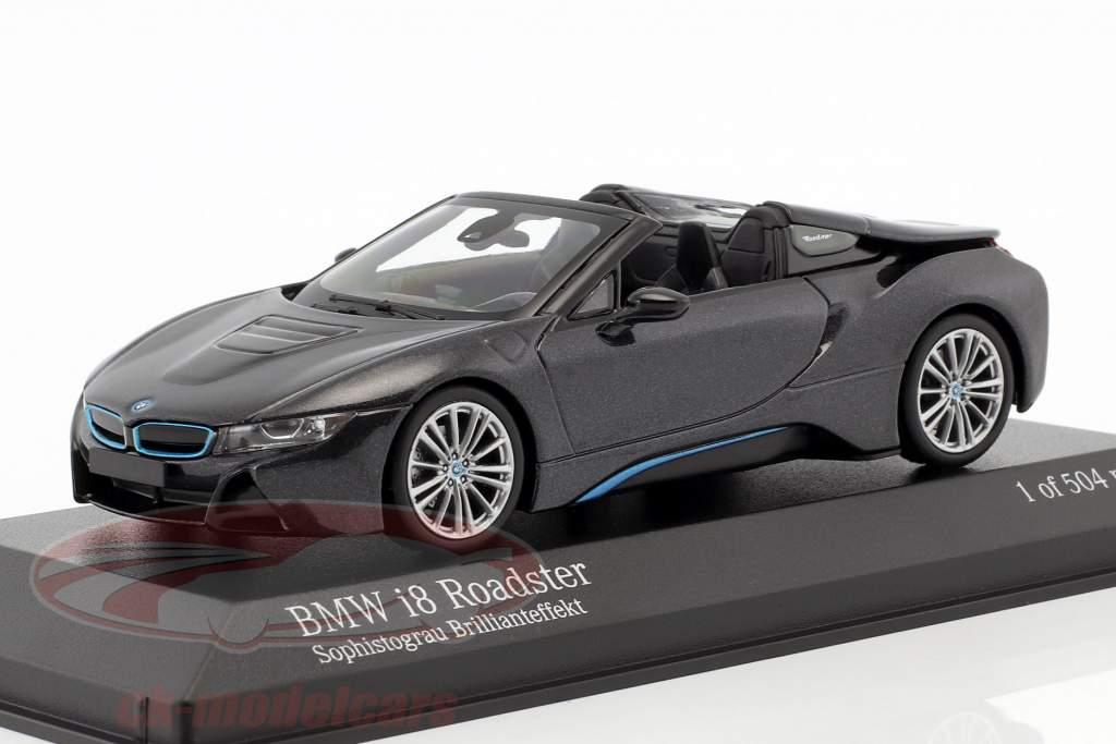 BMW I8 Roadster (I15) Baujahr 2018 grau metallic 1:43 Minichamps