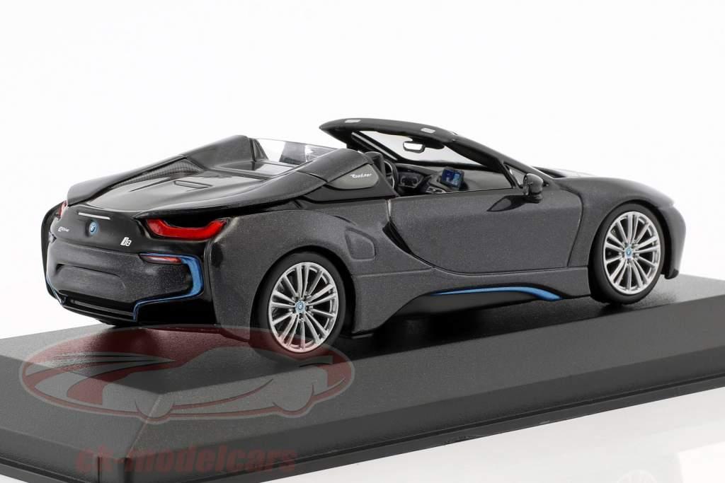 BMW I8 Roadster (I15) Bouwjaar 2018 grijs metalen 1:43 Minichamps